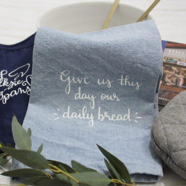 Catholic fair trade tea towel