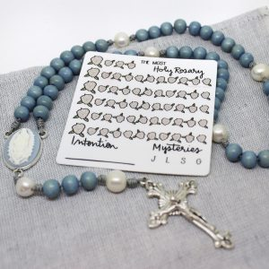 Dry-erase Catholic Rosary tracker sticker
